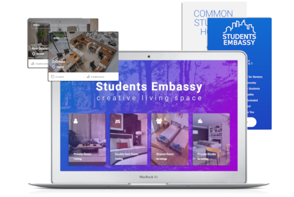 students projekt gradient portal ecommerce
