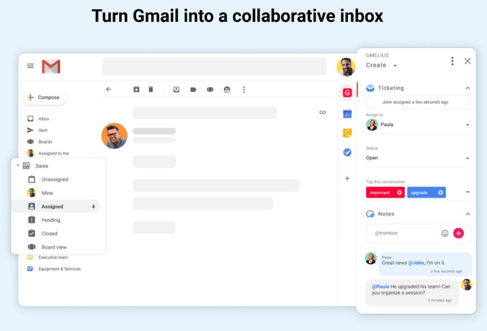 Gmelius collaborative inbox